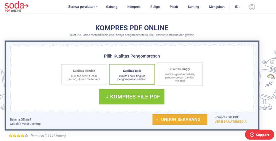 Cara Memperkecil Ukuran PDF Online Dengan Soda PDF Online