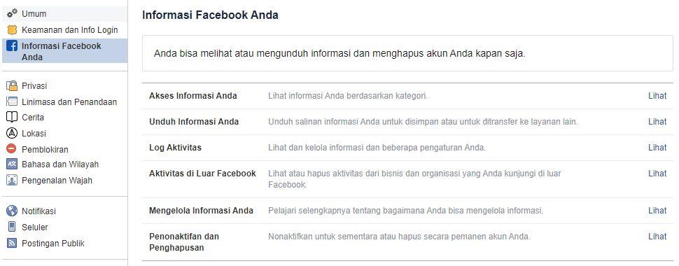 Cara Memblokir Akun FB Sendiri Sementara