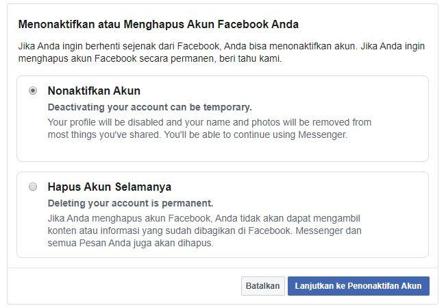 Cara Memblokir Akun FB Sendiri Selamanya