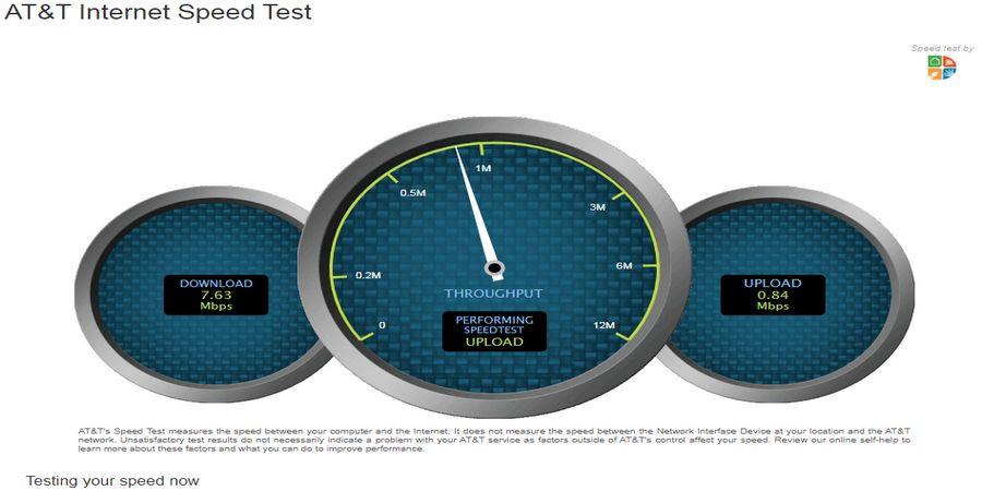 Tes kecepatan internet dengan AT&T