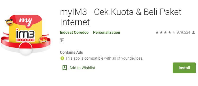 Cek Paket Data Indosat Melalui Aplikasi myIM3