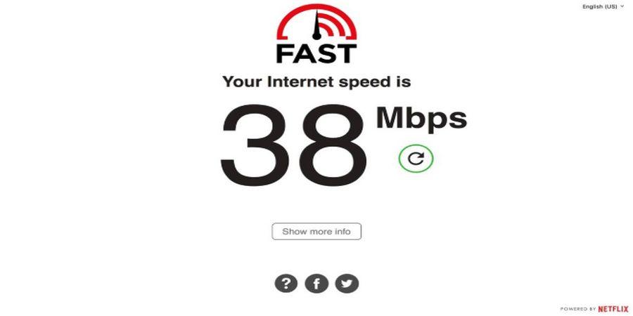 Cara cek kecepatan internet dengan Fast