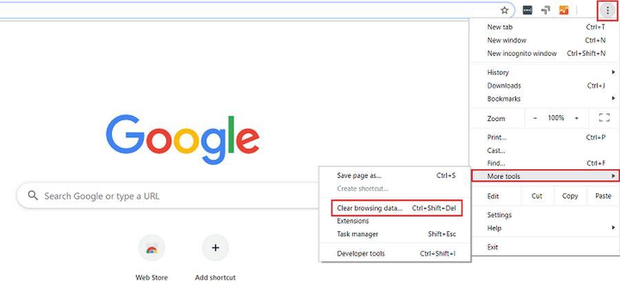 Hapus riwayat internet pada Browser
