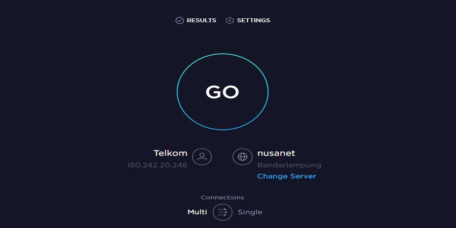 Cara cek kecepatan internet dengan Speed Test Ookla