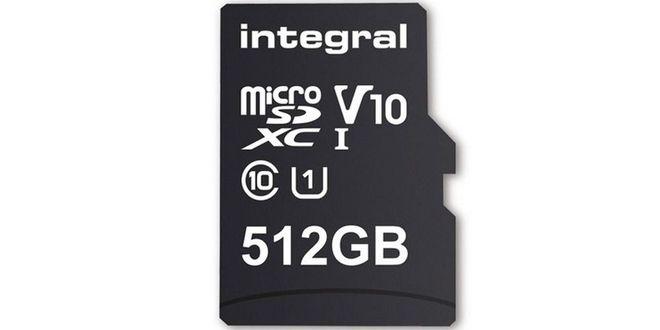 microSD Integral 512GB microSDXC Class 10