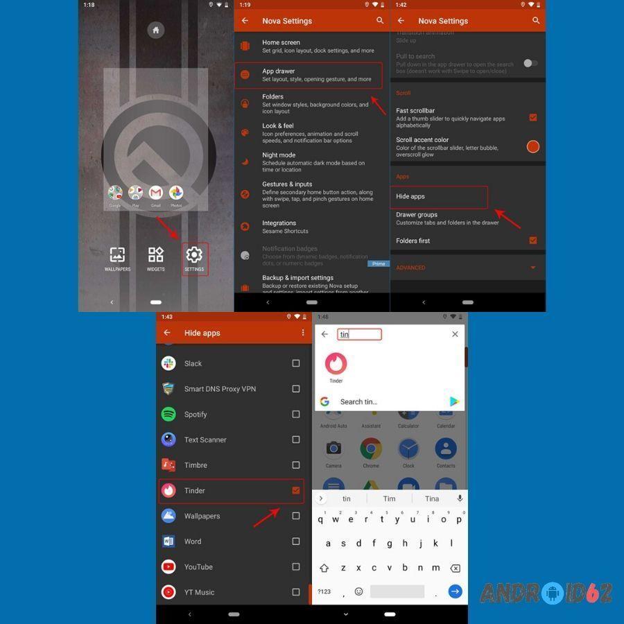 Cara menyembunyikan aplikasi di Android dengan Nova Launcher Prime