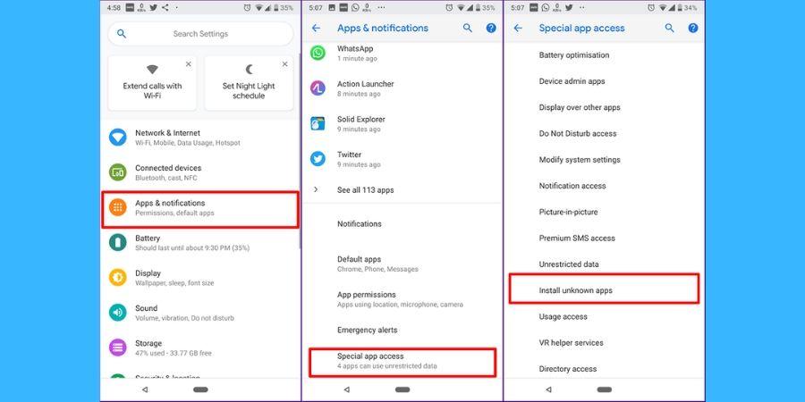 Instal File APK di Perangkat Oreo dan Android P