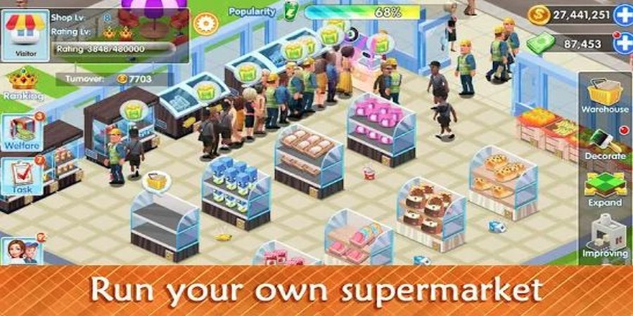 Store tycoon Simulation