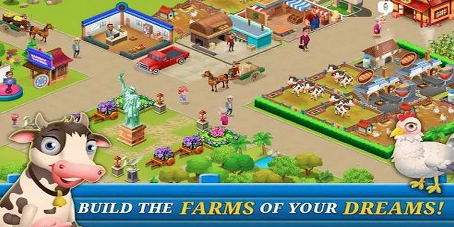Supermarket City Farming Game