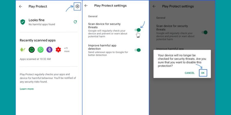 Cara Mengatasi Aplikasi Tidak Terpasang Dengan Menonaktifkan Google Play Protect