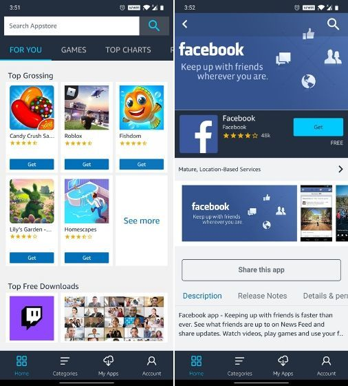 Amazon App Store - Aplikasi Pengganti Google Play Store