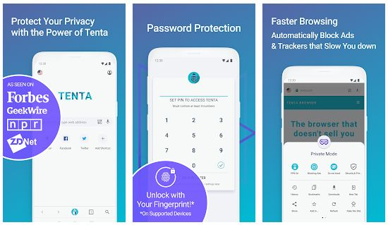 Tenta Private VPN Browser - Browser Anti Blokir Terbaik Tercepat