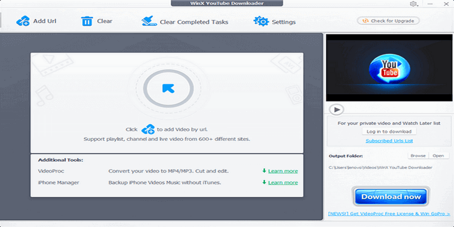 Aplikasi Download Video Youtube di PC - WinX YouTube Downloader