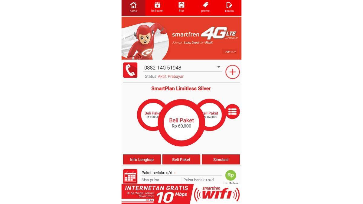 Cara Cek Nomor Smartfren Dengan Aplikasi MySmartfren