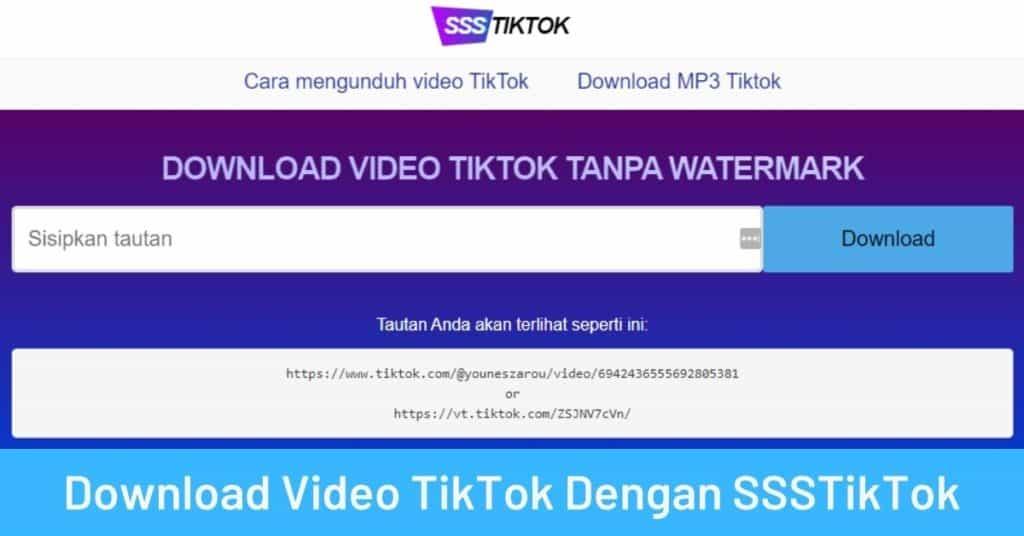 Download Video TikTok Dengan SSSTikTok